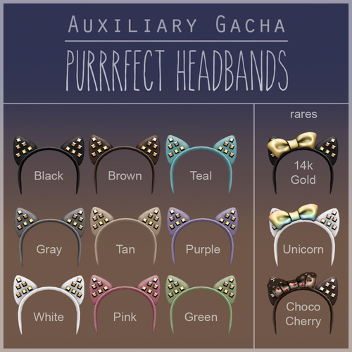 Auxiliary-Purrrfect Headbands