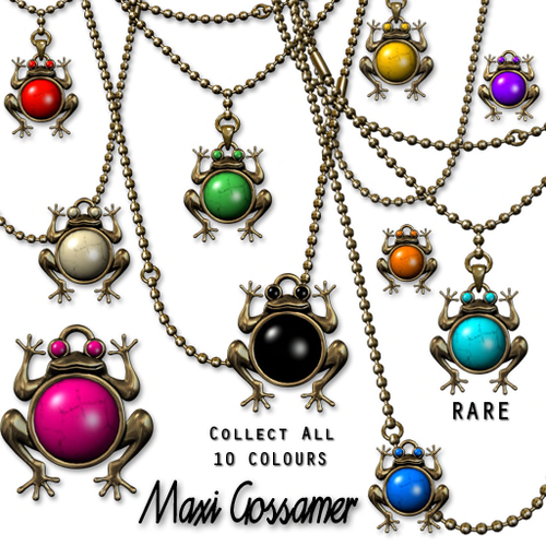 Maxi Gossamer-Jazz Hands Frog Necklace