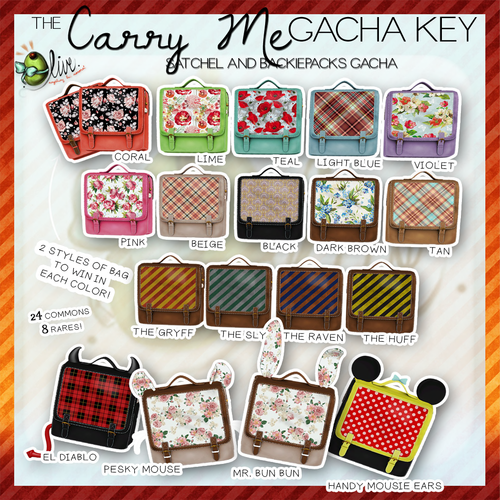 Olive-The Carry Me Satchel and Backiepacks Gacha
