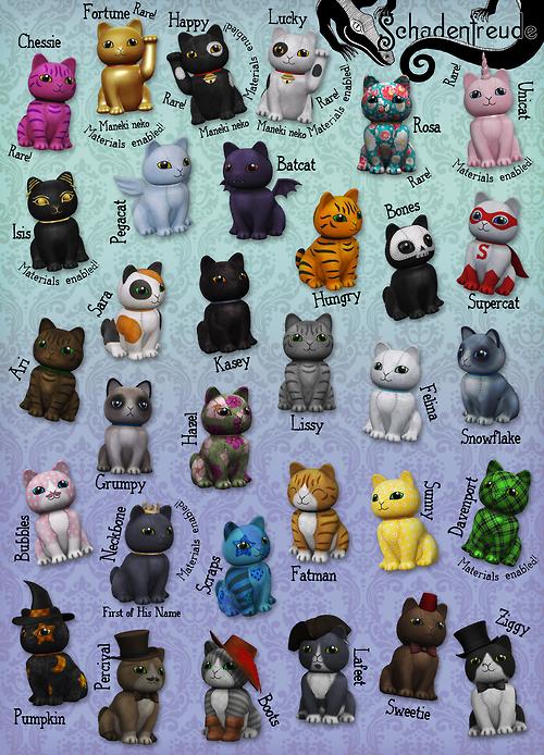 Schadenfreude-Chibi Cats