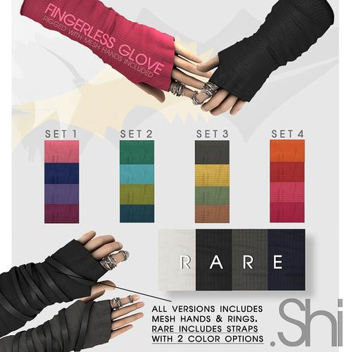 .Shi-Fingerless Gloves