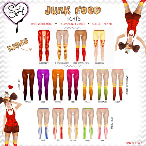 Sugar Heart-Junk Food Tights