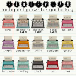 Floorplan Typewriter