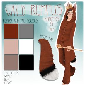 Auxiliary - Wild Rumpus Romper & Tail
