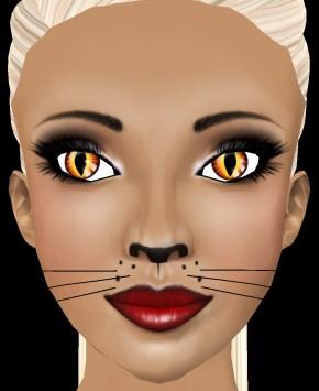 (EMA) Venti MakeUp in Autumn Skintone (Costume Skins),  Venti whiskers, ~FLawed Perfect Neko Apnea eyes.