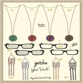 Glow Studio - Earrings, Necklace & Glasses