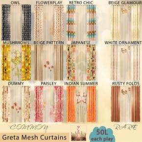 Leezu - Greta Mesh Curtains
