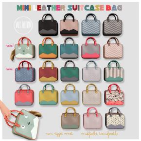 Milk Motion - Mini leather suitcase bag